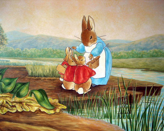 Peter rabbit mural inspired by beatrix potter by visionary for Beatrix potter mural