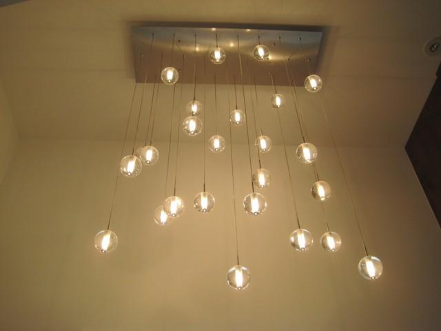 Globe suspension lighting rbpl25 modern chandeliers for Globe luminaire