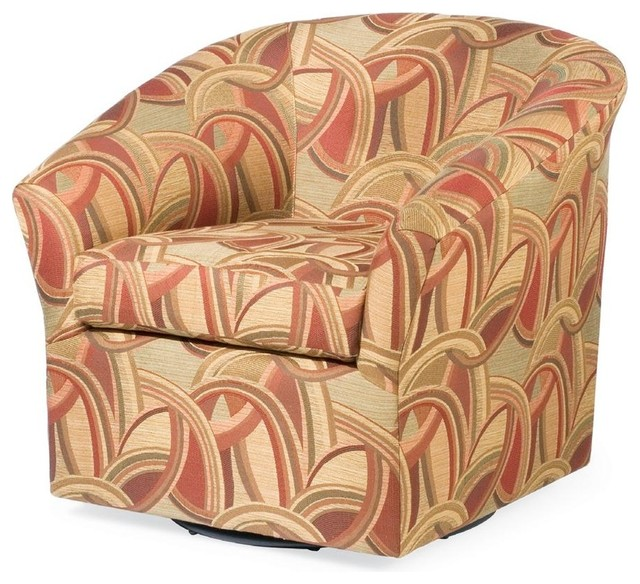 Edgar swivel chair multi contemporary armchairs and for Modern swivel accent chair