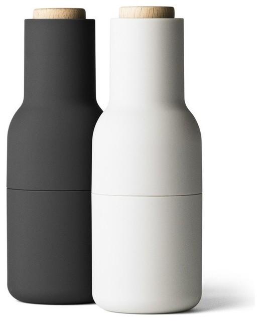 menu bottle grinder set of 2 carbon ash modern salt. Black Bedroom Furniture Sets. Home Design Ideas