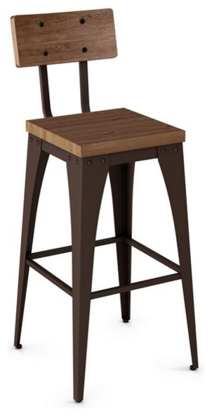 ... and Backrest, Counter Height industrial-bar-stools-and-counter-stools