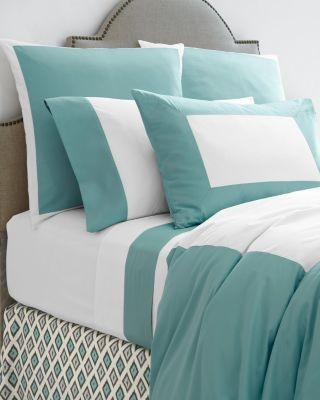garnet hill italian palazzo percale bedding king aqua haze moderne linge de lit et. Black Bedroom Furniture Sets. Home Design Ideas