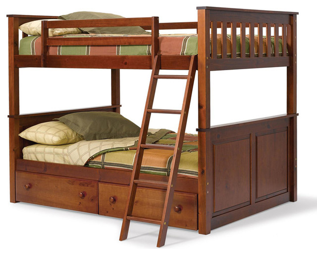 Chelsea Home Full Over Full Mission Panel Bunk Bed with