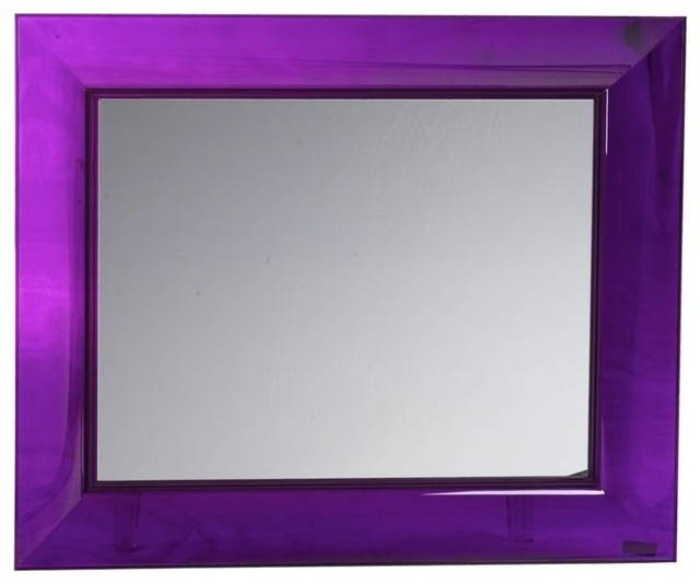 francois ghost mirror large purple moderne miroir mural par design public. Black Bedroom Furniture Sets. Home Design Ideas