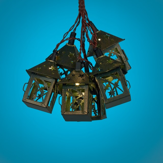 Bronze Star 10 Light LED Party String Lights Farmhouse