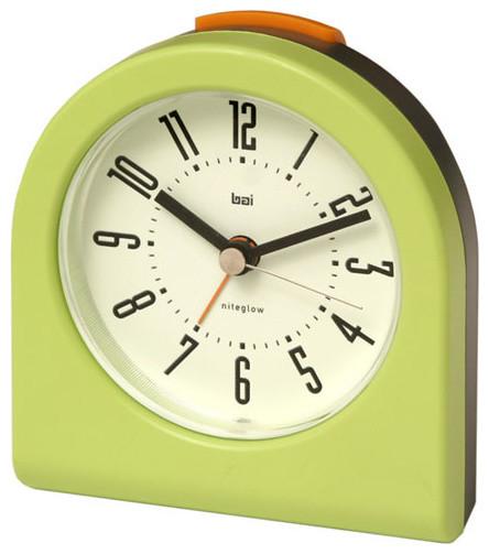 Cyber lime designer pick me up alarm clock modern for Designer alarm clock