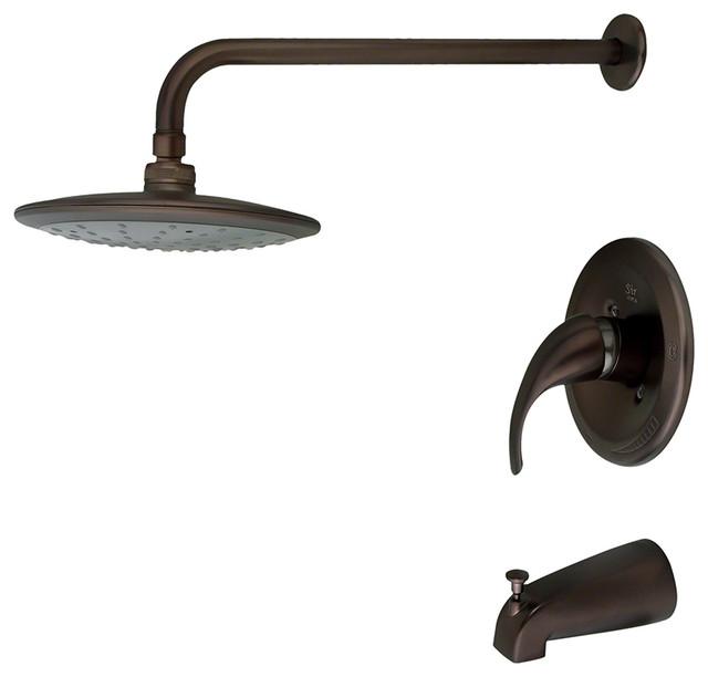 Oil Rubbed Bronze 3 Piece Rain Head Shower Set Traditional Showerheads An