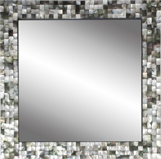 Black Mother Of Pearl Mirror Contemporary Wall Mirrors By Jayson Home