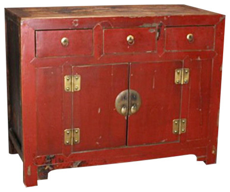 Consigned Shun Lan Cabinet - Asian - Buffets And Sideboards - by Marco Polo Imports