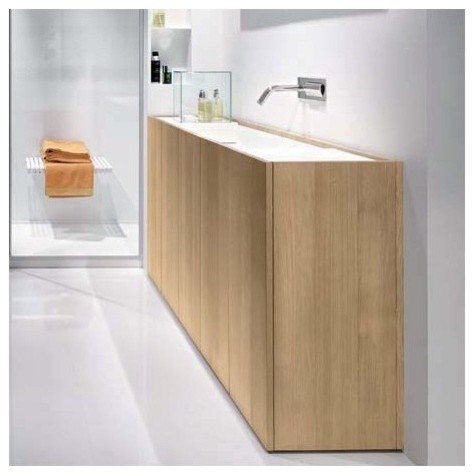 Makro Modulo30 Thermo Treated Wood Vanity With Wall