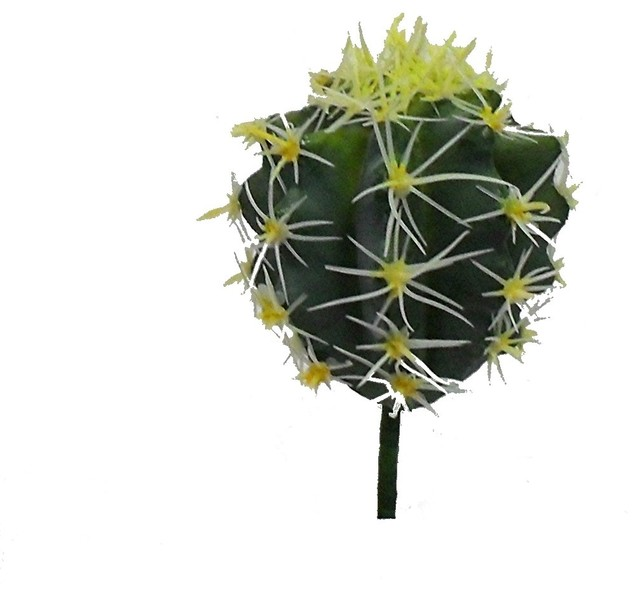 Artificial ball cactus yellow southwestern plants for Kitchen design 06606