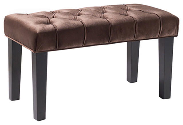 Marilyn Bench 36 Quot Brown Contemporary Upholstered
