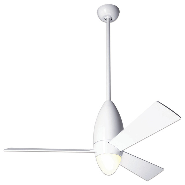 "Modern Ceiling Fan Company: Modern Fan Company DC Slim Gloss White 52"" Ceiling Fan"
