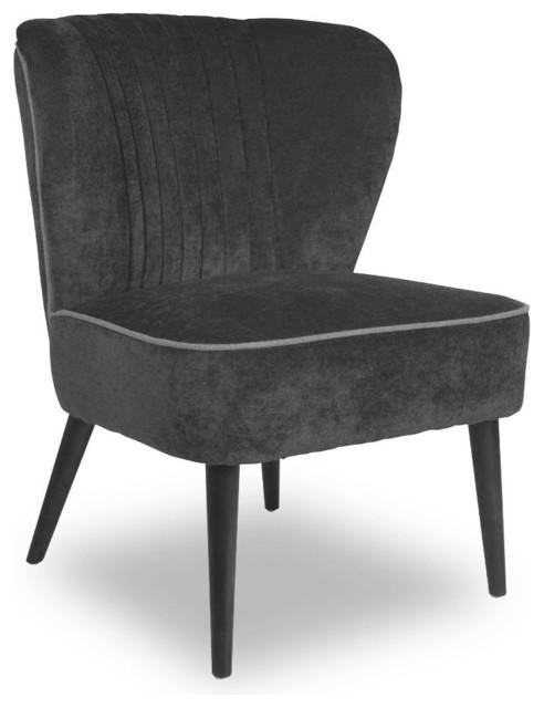 fauteuil cocktail vintage smoker couleur gris scandinave fauteuil par. Black Bedroom Furniture Sets. Home Design Ideas