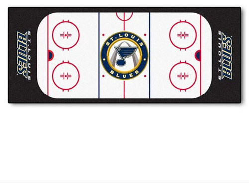 Nhl St Louis Blues Hockey Rink Accent Runner Rug