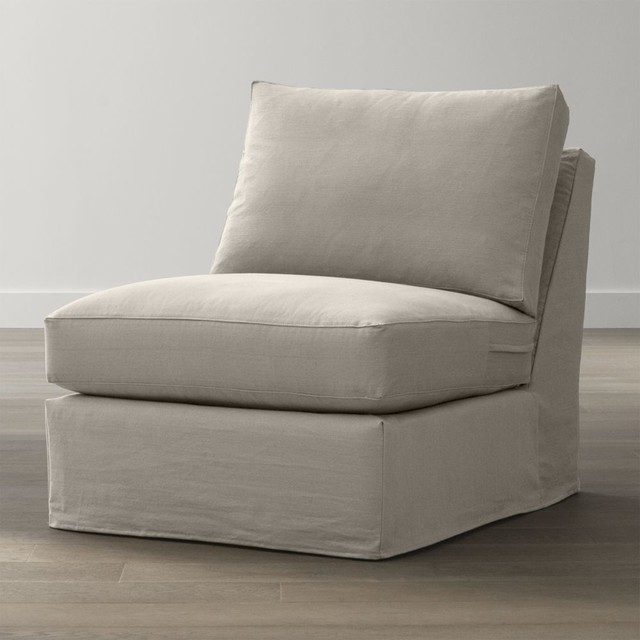 Slipcover only for axis ii armless sectional chair for Crate and barrel armless chair
