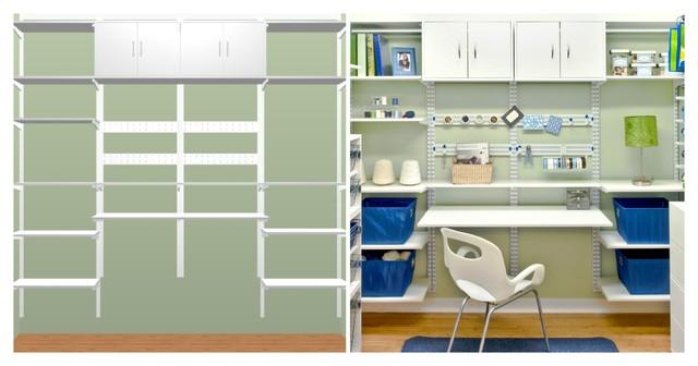 Organized Living freedomRail Desk Design in White - Modern - cincinnati - by Organized Living