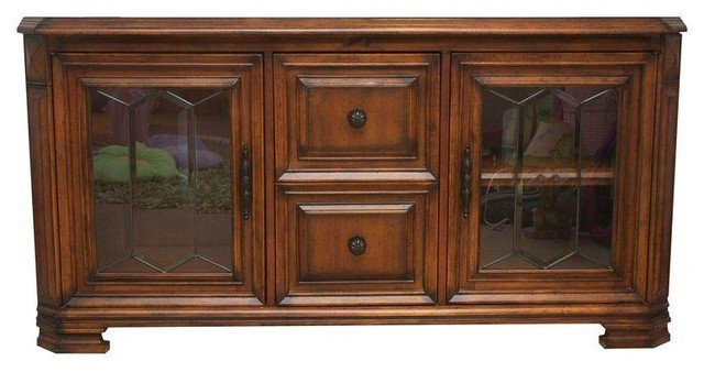 Aspen Home Barolo Collection Media Console Cabinet - Modern - Storage Cabinets - by Chairish