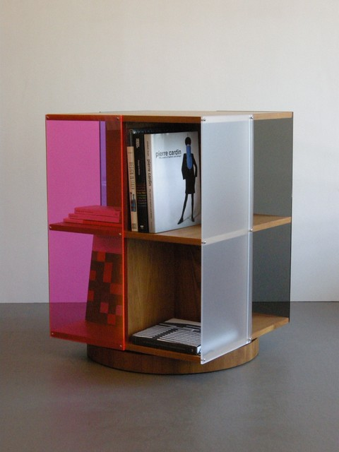 Page Turner Rotating Bookcase - Teak & Acrylic - Modern - Bookcases - san francisco - by Jason ...