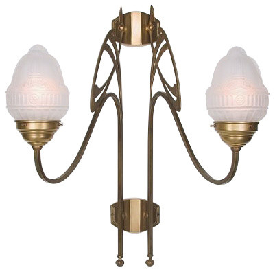 Berlin Brass lamps AD266-113gsB Wall Sconce - Modern - Wall Lights - by Interior Deluxe