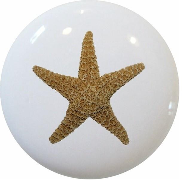 Starfish Nautical Ceramic Cabinet Drawer Knob - Beach ...
