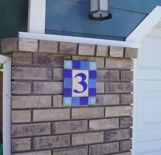 Shell theme address plaque mediterranean house numbers for Mediterranean house numbers