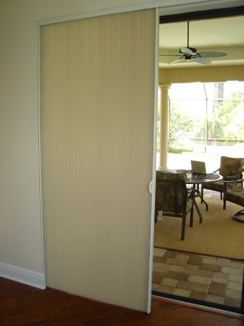 Window Treatments for Sliding Doors - Transitional - Vertical Blinds ...