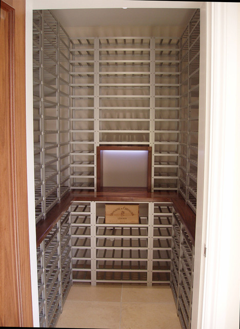 Walk In Wine Closet Contemporary Wine Cellar South
