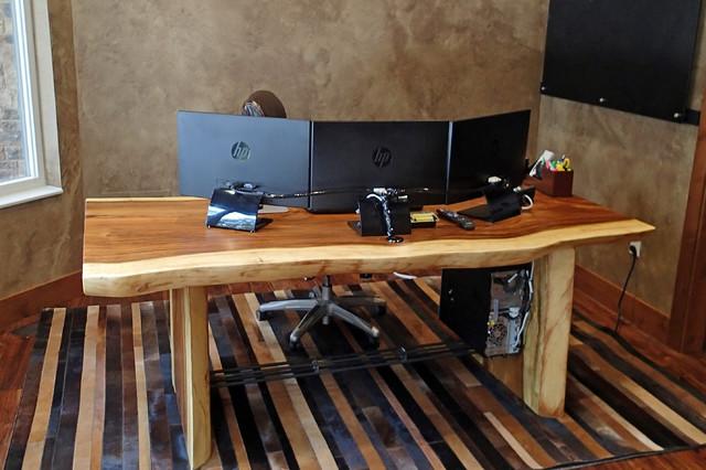 custom wood computer desk custom natural edge desk with unique steel