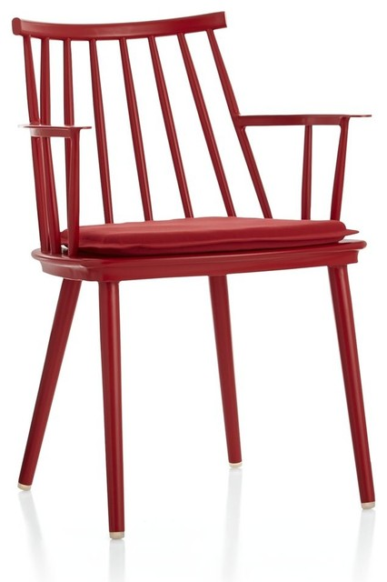 Outdoor Seating Union Red Dining Arm Chair with Sunbrella  : contemporary dining chairs from houzz.co.uk size 426 x 640 jpeg 40kB