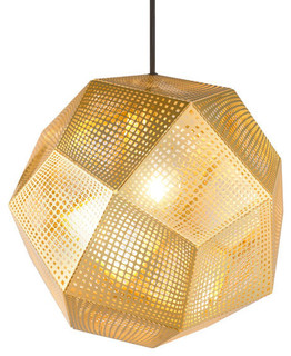 Tom Dixon Etch Shade Pendant Light, Brass