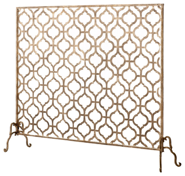 Lexington Single Panel Fireplace Screen Traditional Fireplace Screens Dallas By Horchow