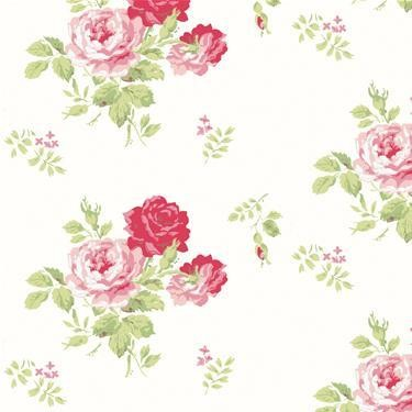 Antique Rose Wallpaper By Cath Kidston Traditional