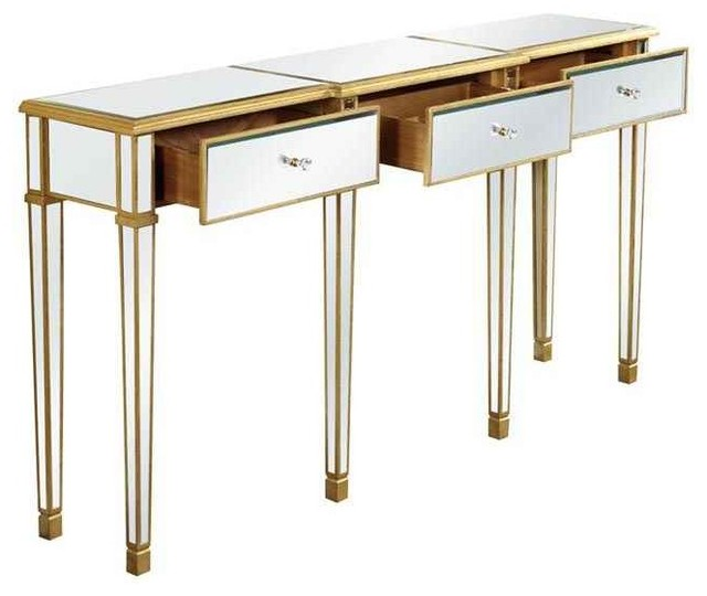 Traditional 3 drawers table contemporary console - Contemporary console tables with drawers ...