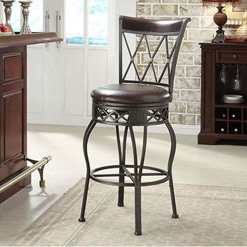 Metal Adjustable Height Barstool Traditional Bar