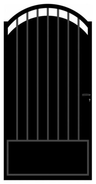 Portillon en fer oria 100 cm contemporain cl ture et portail par castorama - Portillon fer castorama ...