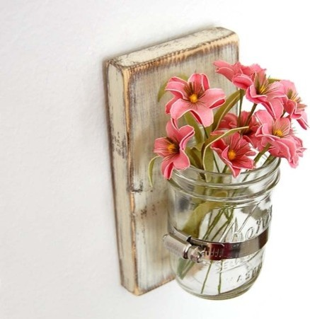 Shabby Chic Sconce Cottage Decor Vase By Old New Again Eclectic Vases