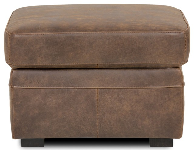 cuba salon pouf coffre en croute de cuir vieilli contemporain repose pieds pouf et cube. Black Bedroom Furniture Sets. Home Design Ideas