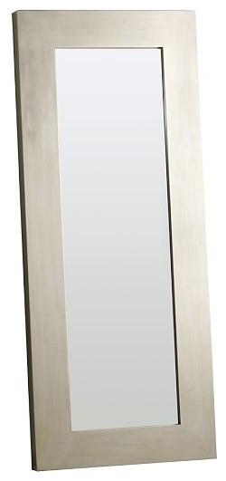 Chunky Wood Floor Mirror Modern Floor Mirrors By
