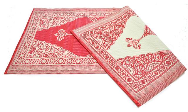 Alfombras de pl stico de india modelo persa roja for Alfombra persa roja