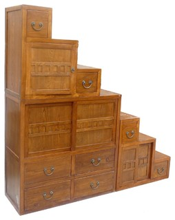 Oriental Japanese Style Step Tansu Cabinet - Asian - China Cabinets And Hutches