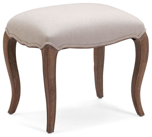 zuo modern madrona stool in beige contemporary vanity stools and