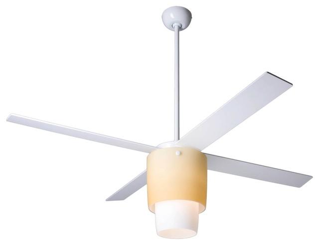 52 Modern Fan Halo White Light Kit Ceiling Fan: modern white ceiling fan