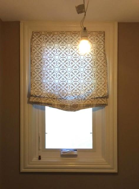 Custom Roman Shades Bathroom Chicago By Thybony Interiors