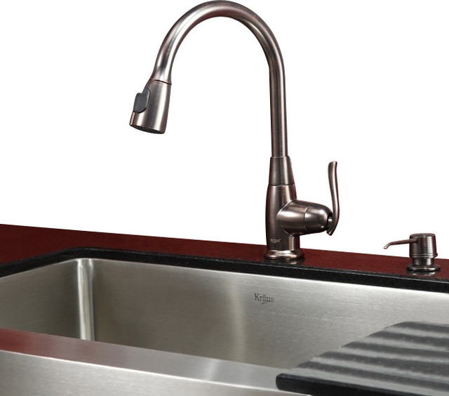 30 in Farmhouse Kitchen Sink Oil Rubbed Bronze Faucet Contemporary Kitch