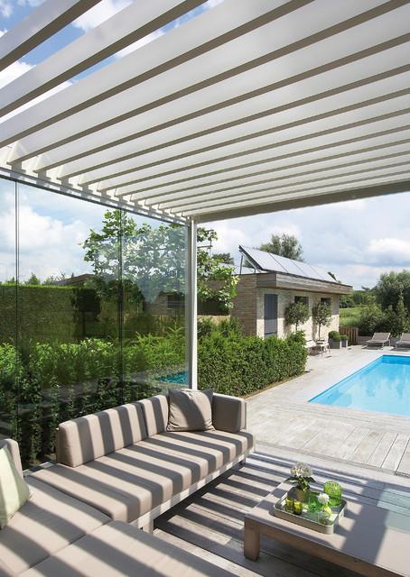 terrassen berdachung renson algarve lamellendach. Black Bedroom Furniture Sets. Home Design Ideas
