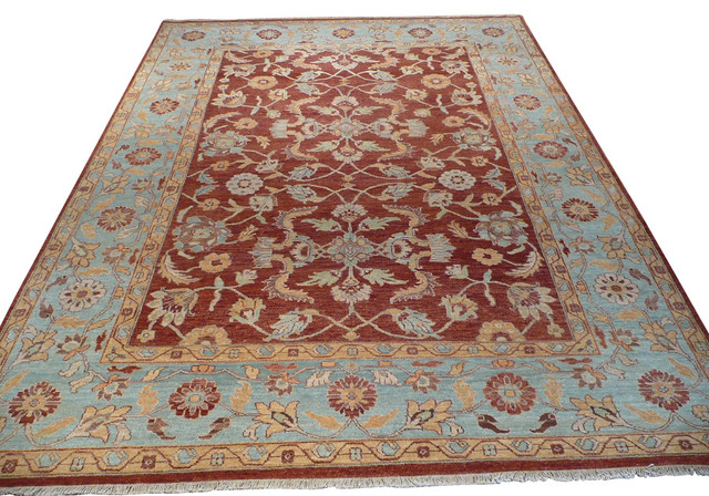 7 39 10x10 oushak rug traditional area rugs by oriental for 10x10 carpet