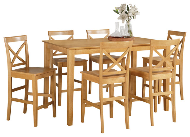 Counter Height Gathering Table Sets : Piece Counter Height Table Set- Gathering Table And 4 Counter Height ...