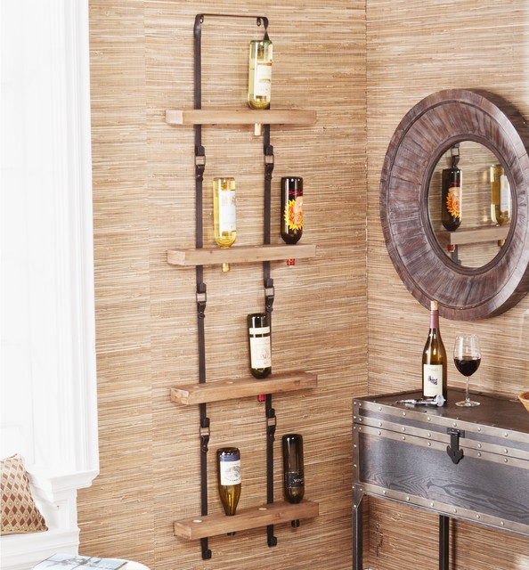 Upton Home Serena Wall Mount Wine Storage - Contemporary - Wine Racks - by Overstock.com