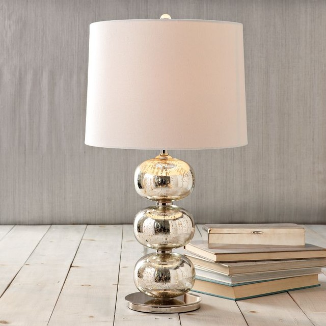 Abacus Table Lamp Mercury Contemporary Table Lamps
